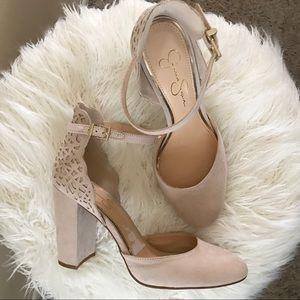 Jessica Simpson Blush Pink/Cream Heels